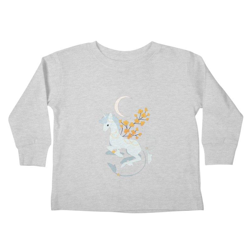 Unicorn Moon Kids Toddler Longsleeve T-Shirt by StrangelyKatie's Store