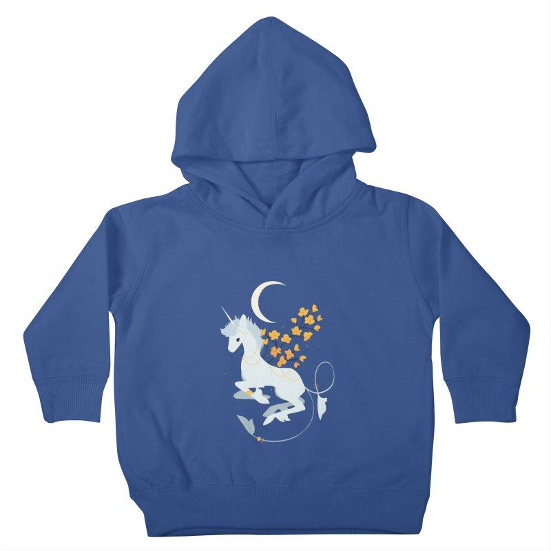 Unicorn Moon Kids Toddler Pullover Hoody by StrangelyKatie's Store
