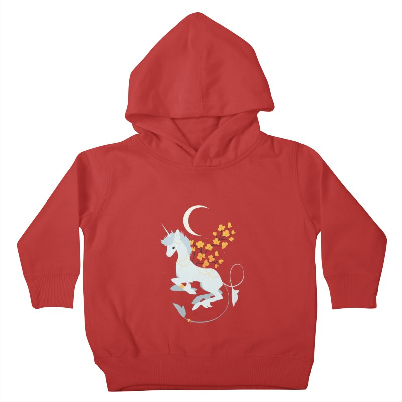 Unicorn Moon Kids Toddler Pullover Hoody by StrangelyKatie's Store