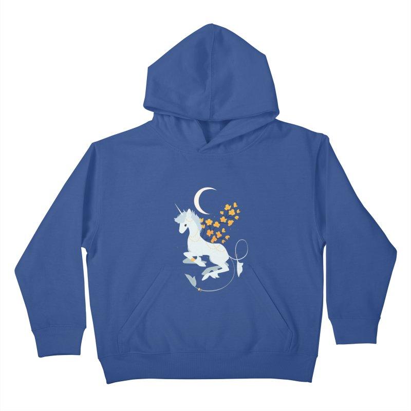 Unicorn Moon Kids Pullover Hoody by StrangelyKatie's Store