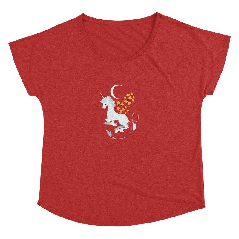 Unicorn Moon Women's Dolman Scoop Neck by StrangelyKatie's Store