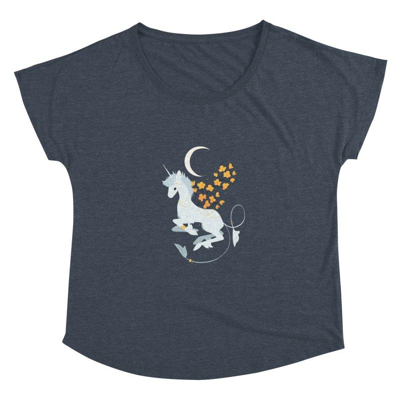 Unicorn Moon Women's Scoop Neck by StrangelyKatie's Store