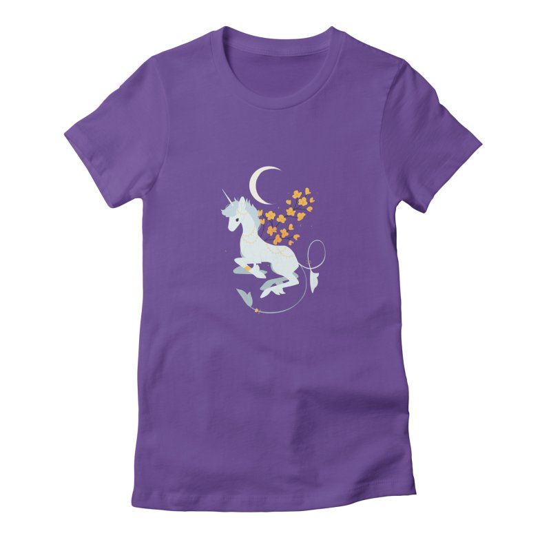Unicorn Moon Women's T-Shirt by StrangelyKatie's Store