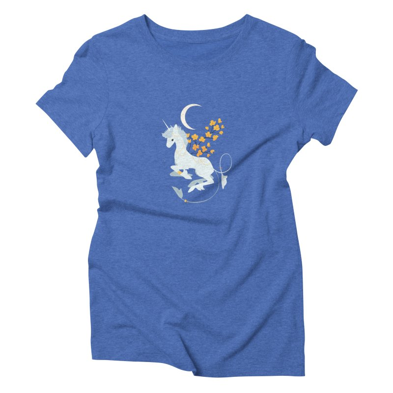 Unicorn Moon Women's Triblend T-Shirt by StrangelyKatie's Store