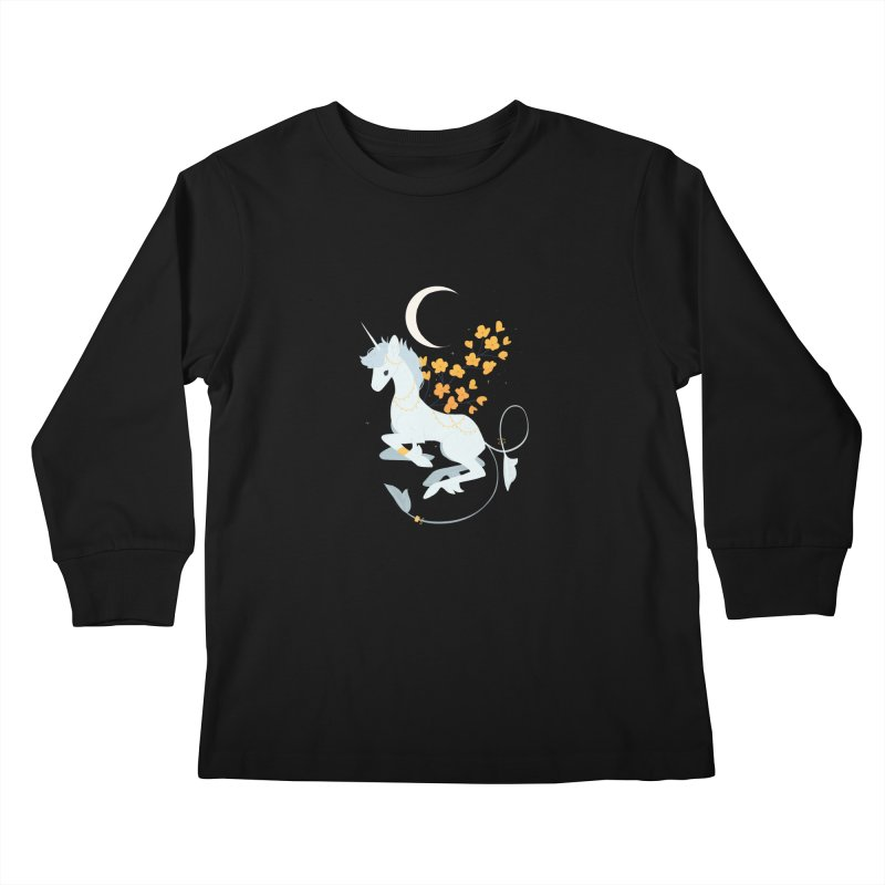 Unicorn Moon Kids Longsleeve T-Shirt by StrangelyKatie's Store