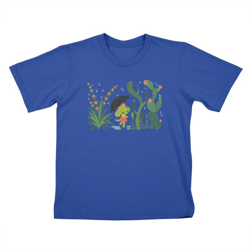 Aloe Pup Kids T-Shirt by StrangelyKatie's Store