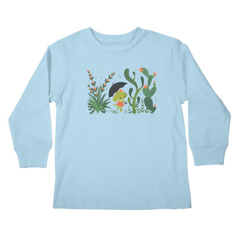 Aloe Pup Kids Longsleeve T-Shirt by StrangelyKatie's Store