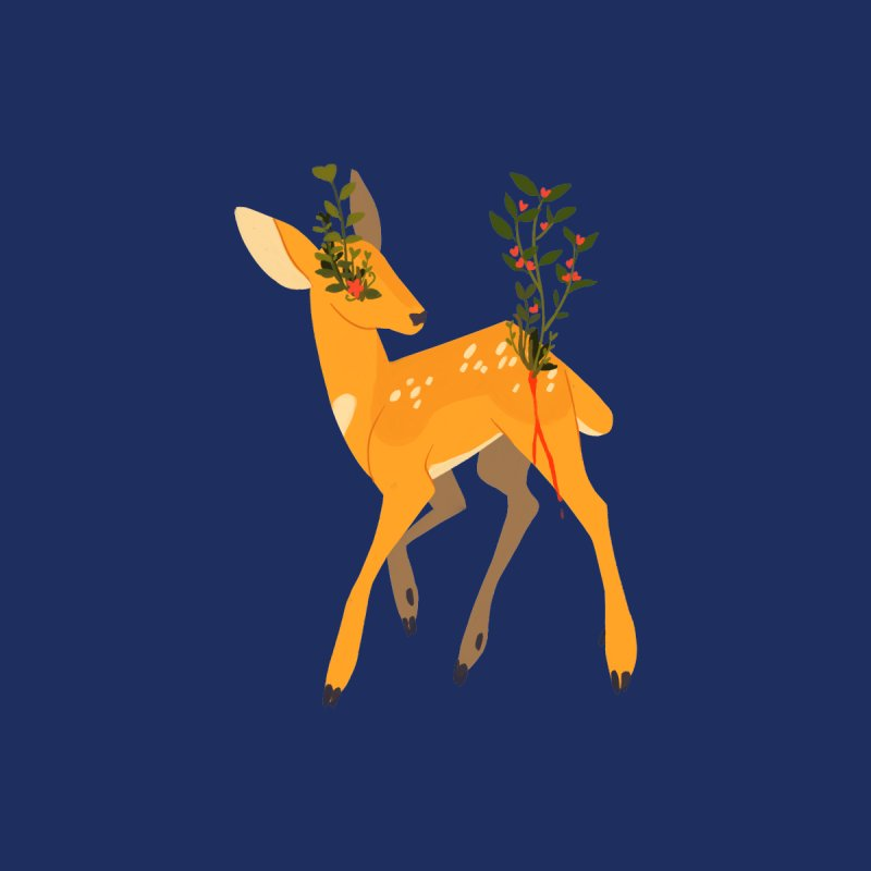 Golden Deer Women's T-Shirt by StrangelyKatie's Store