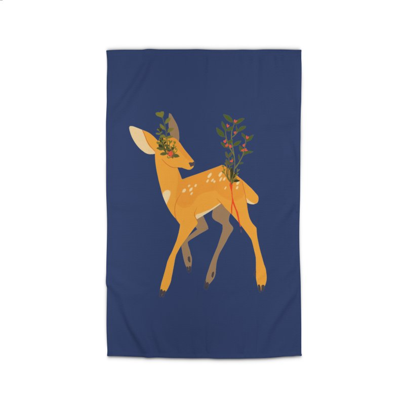 Golden Deer Home Rug by StrangelyKatie's Store