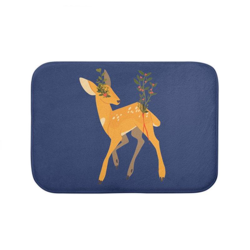 Golden Deer Home Bath Mat by StrangelyKatie's Store