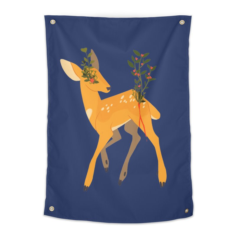Golden Deer Home Tapestry by StrangelyKatie's Store