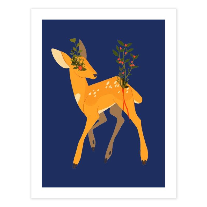 Golden Deer Home Fine Art Print by StrangelyKatie's Store