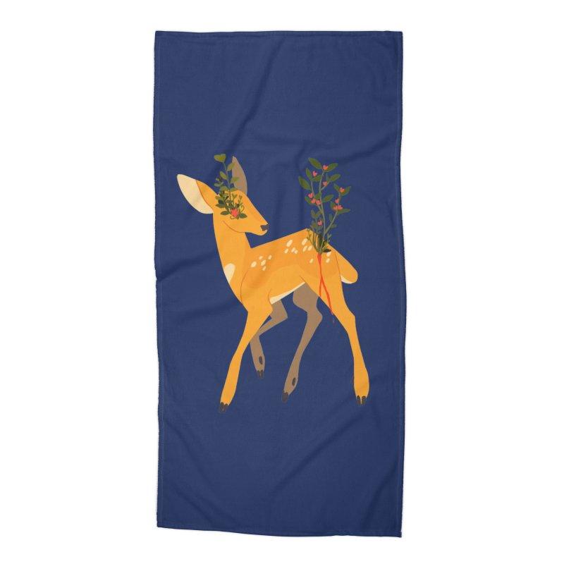 Golden Deer Accessories Beach Towel by StrangelyKatie's Store