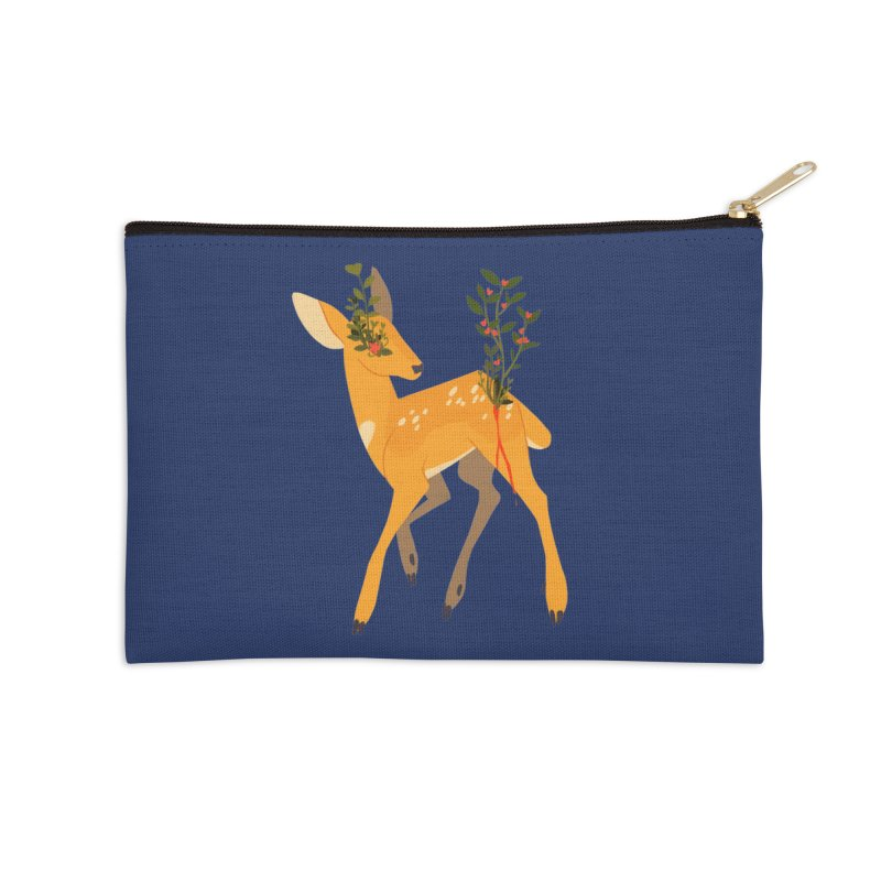 Golden Deer Accessories Zip Pouch by StrangelyKatie's Store