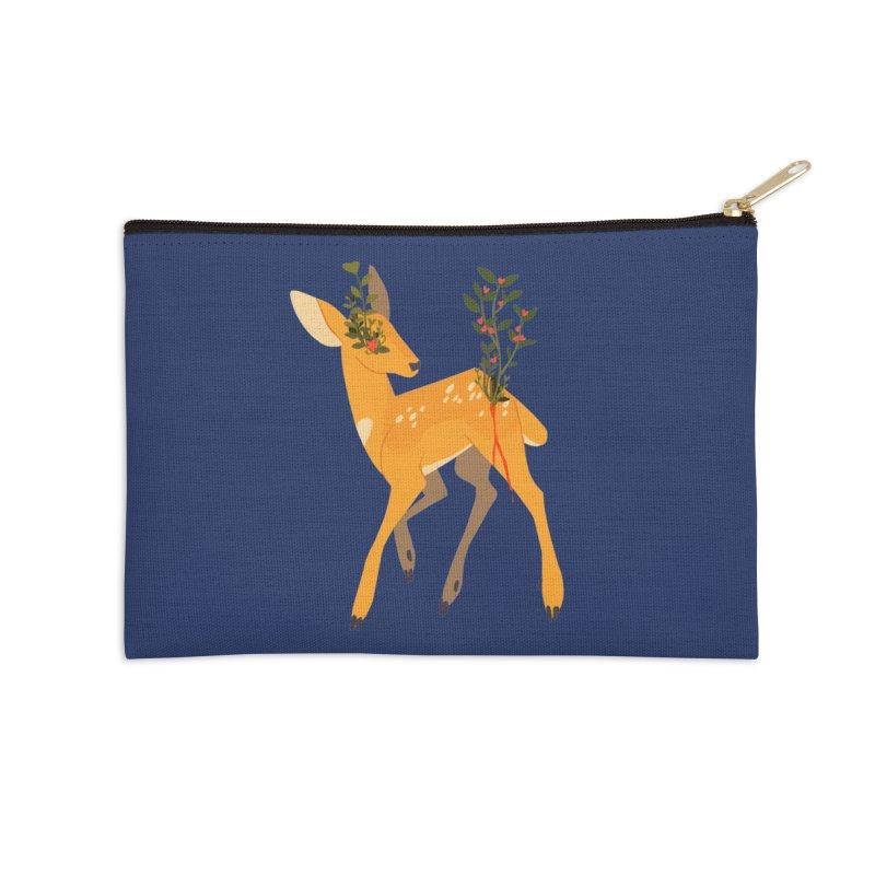 Golden Deer Accessories Zip Pouch by StrangelyKatie's Store