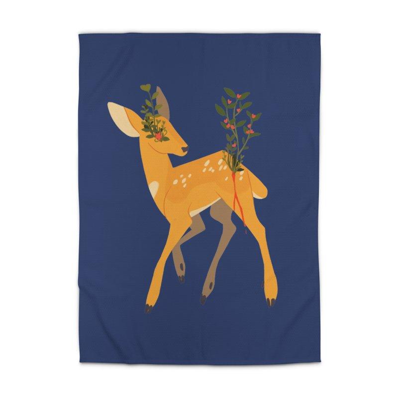 Golden Deer Home Rug by StrangelyKatie's Store
