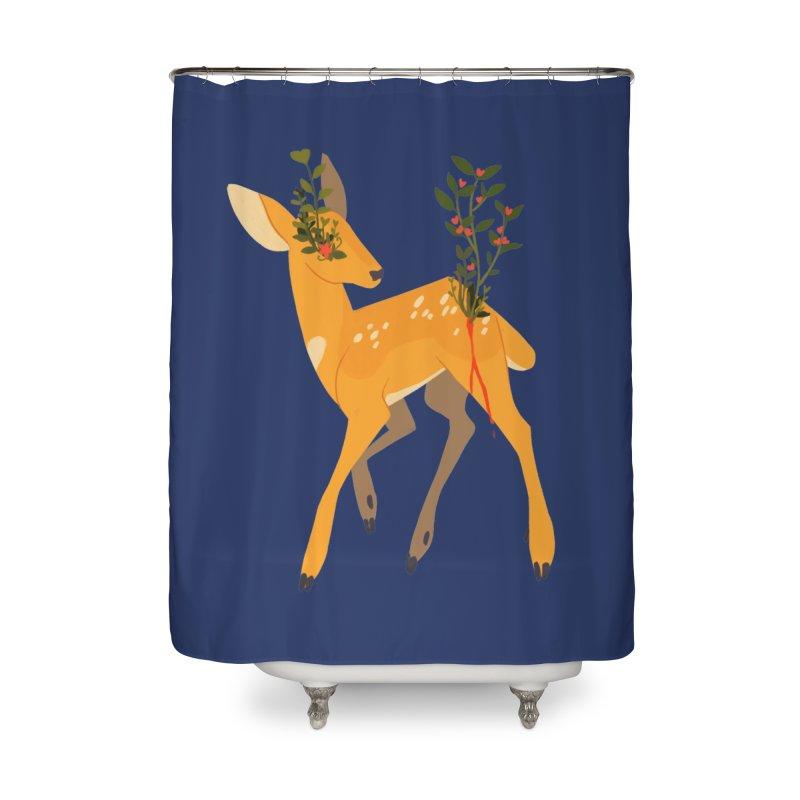 Golden Deer Home Shower Curtain by StrangelyKatie's Store