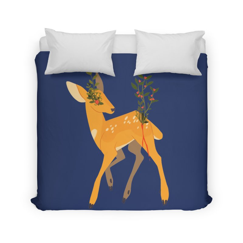 Golden Deer Home Duvet by StrangelyKatie's Store