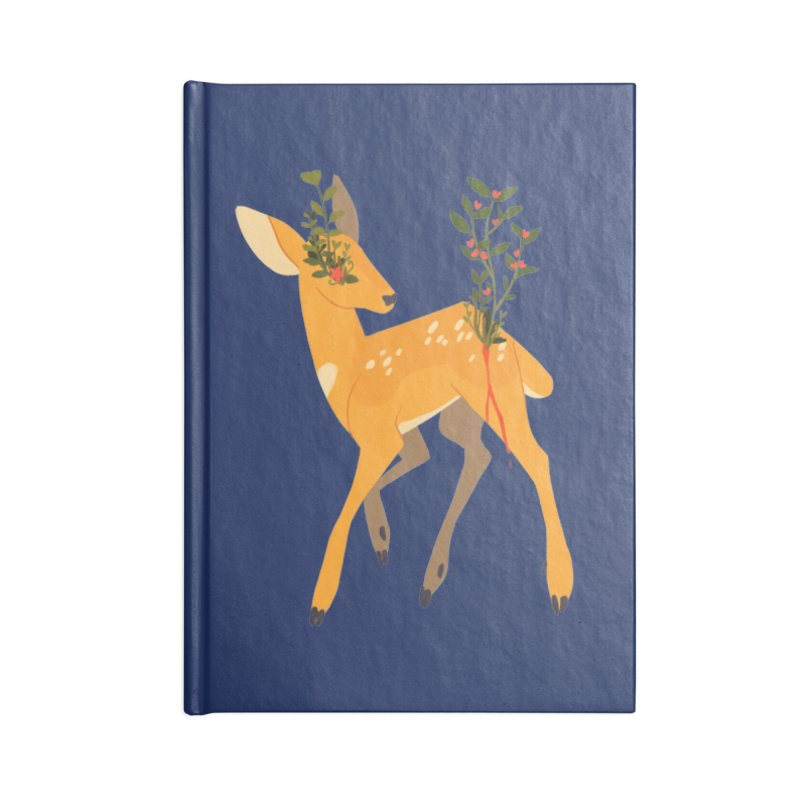 Golden Deer Accessories Lined Journal Notebook by StrangelyKatie's Store