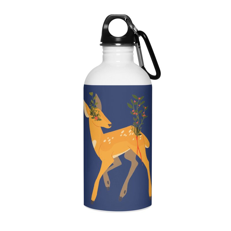 Golden Deer Accessories Water Bottle by StrangelyKatie's Store