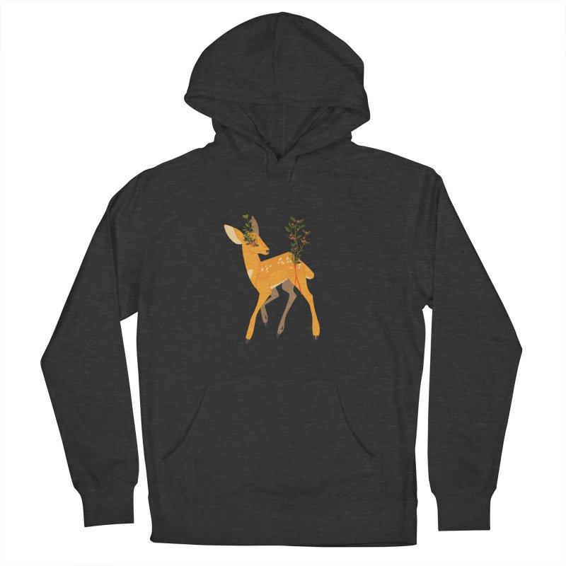 Golden Deer Women's French Terry Pullover Hoody by StrangelyKatie's Store