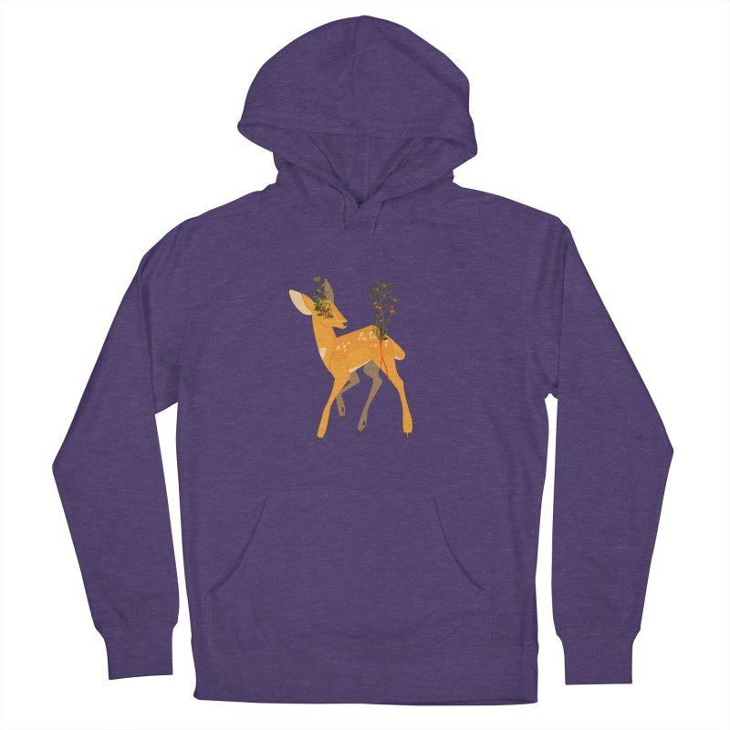 Golden Deer Men's French Terry Pullover Hoody by StrangelyKatie's Store
