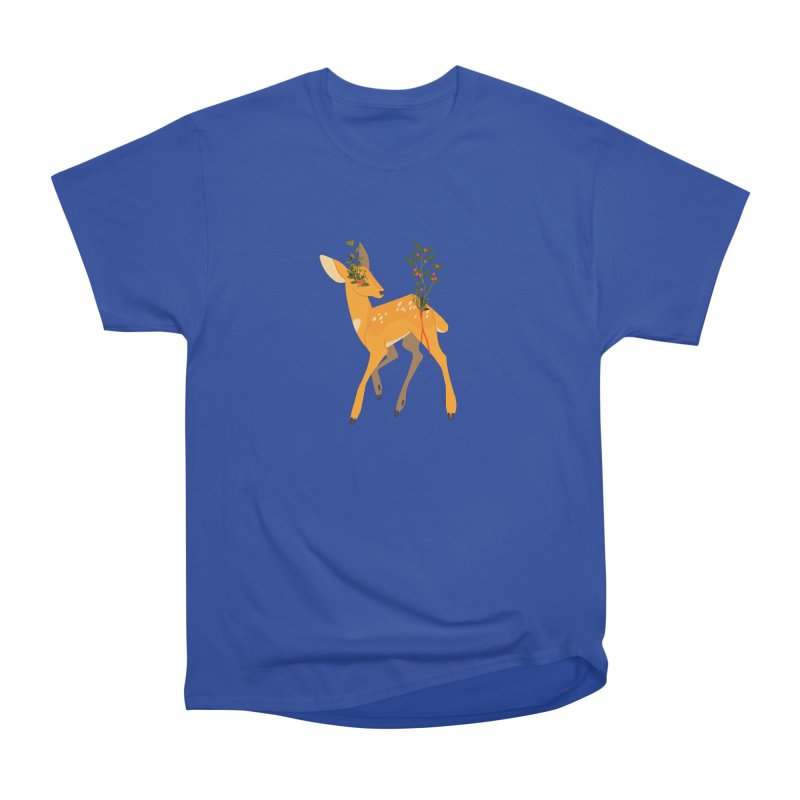 Golden Deer Women's Heavyweight Unisex T-Shirt by StrangelyKatie's Store
