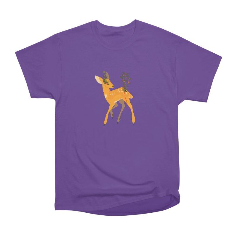 Golden Deer Women's Heavyweight Unisex T-Shirt by StrangelyKatie's Store