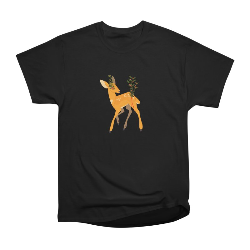 Golden Deer Men's Heavyweight T-Shirt by StrangelyKatie's Store
