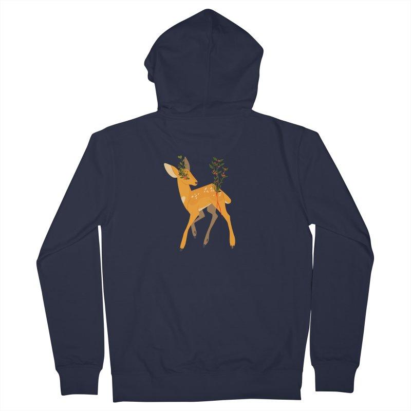 Golden Deer Women's French Terry Zip-Up Hoody by StrangelyKatie's Store