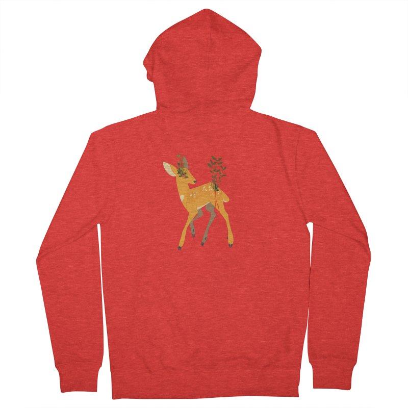 Golden Deer Men's Zip-Up Hoody by StrangelyKatie's Store