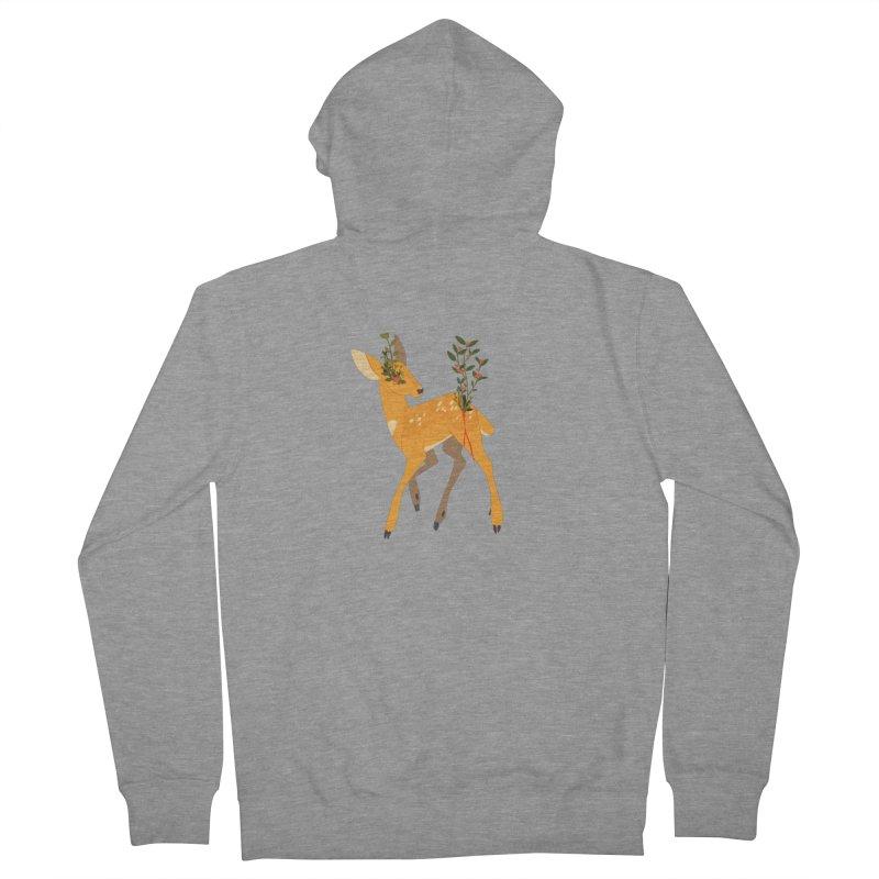 Golden Deer Men's French Terry Zip-Up Hoody by StrangelyKatie's Store