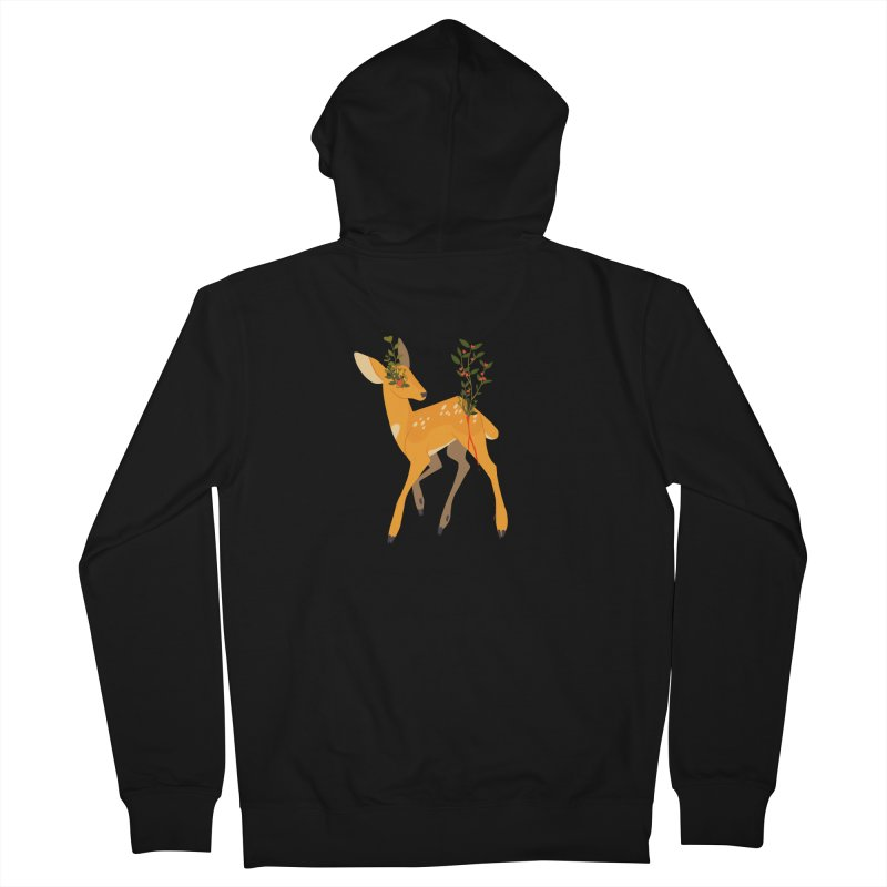 Golden Deer Men's Zip-Up Hoody by StrangelyKatie's Store