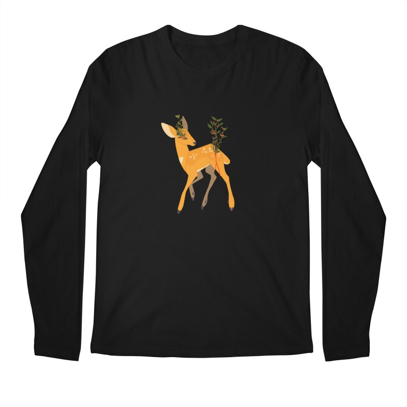 Golden Deer Men's Longsleeve T-Shirt by StrangelyKatie's Store