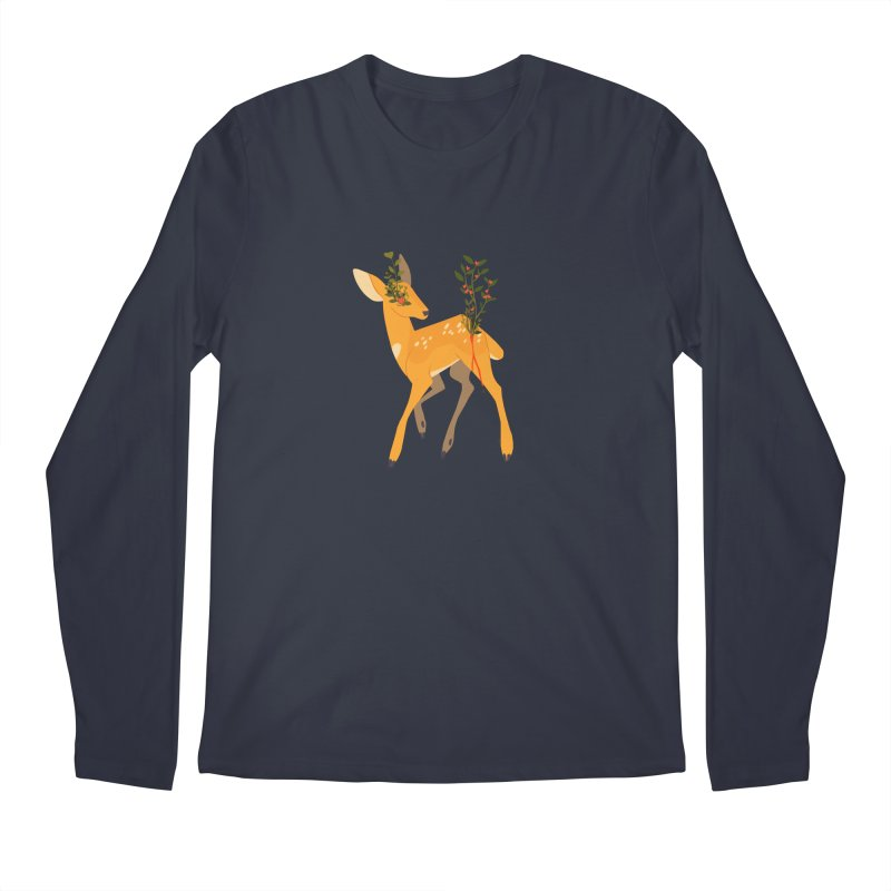Golden Deer Men's Regular Longsleeve T-Shirt by StrangelyKatie's Store