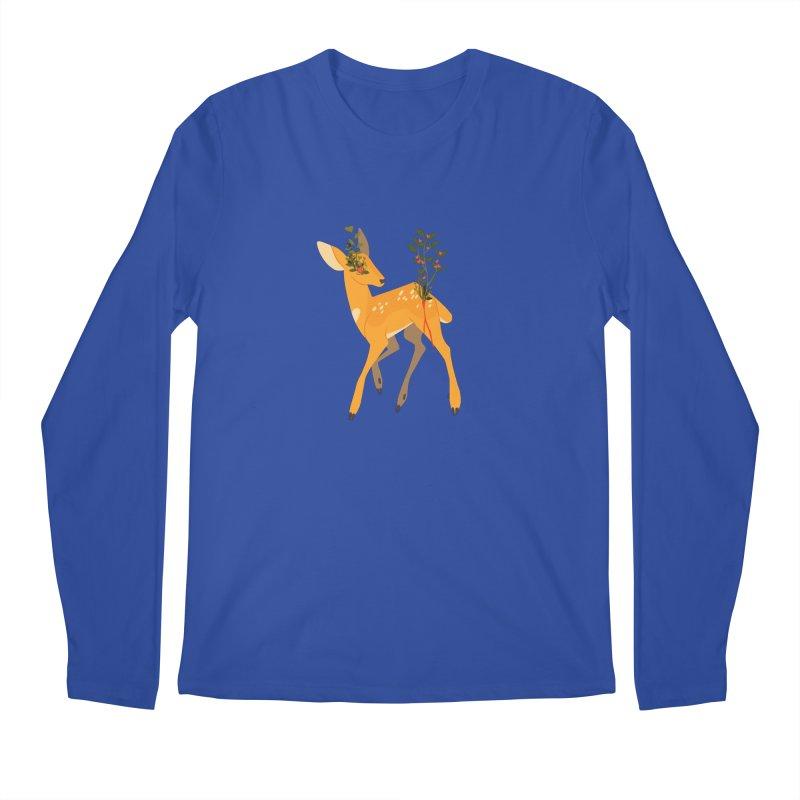 Golden Deer Men's Longsleeve T-Shirt by StrangelyKatie's Store