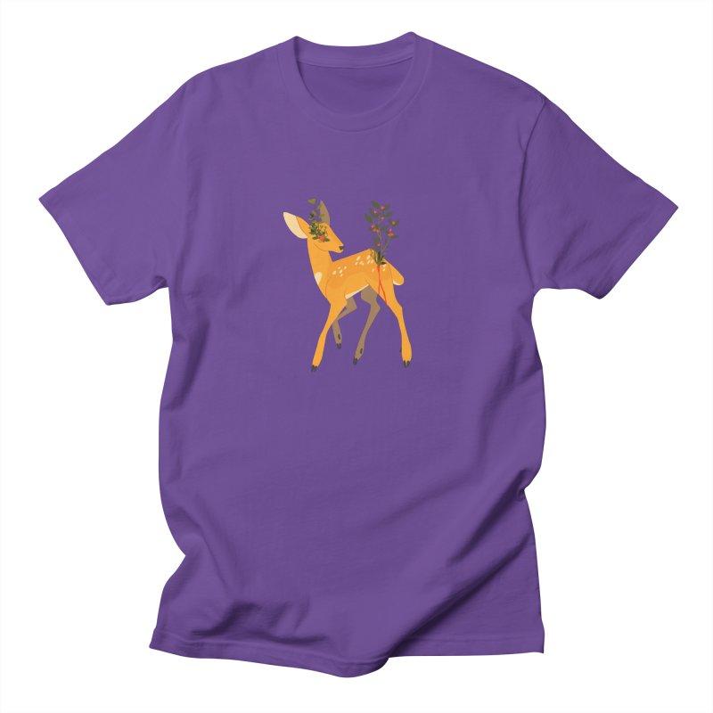 Golden Deer Men's T-Shirt by StrangelyKatie's Store