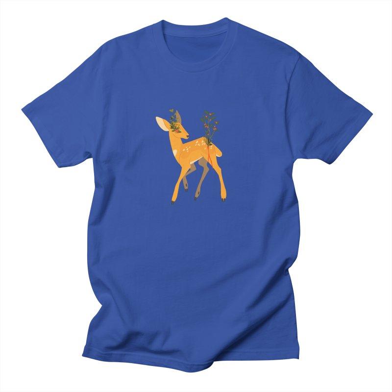 Golden Deer Women's Regular Unisex T-Shirt by StrangelyKatie's Store