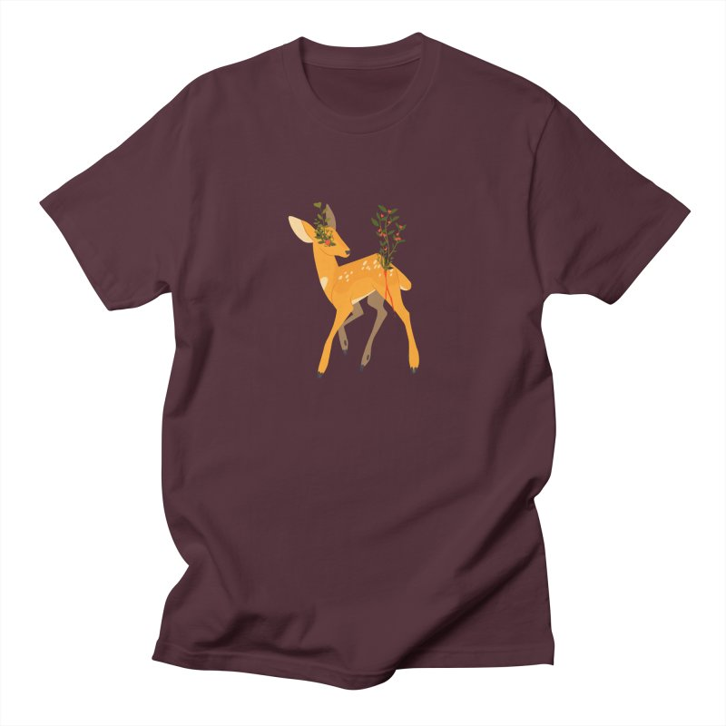 Golden Deer Men's Regular T-Shirt by StrangelyKatie's Store