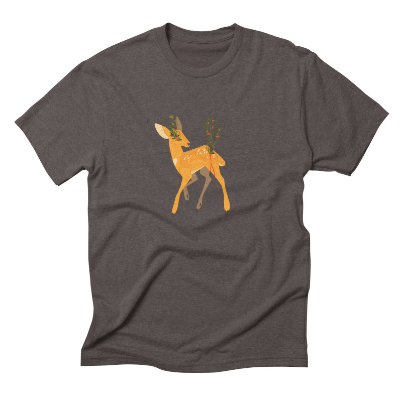Golden Deer Men's Triblend T-Shirt by StrangelyKatie's Store