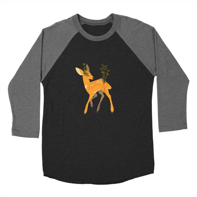 Golden Deer Women's Baseball Triblend Longsleeve T-Shirt by StrangelyKatie's Store