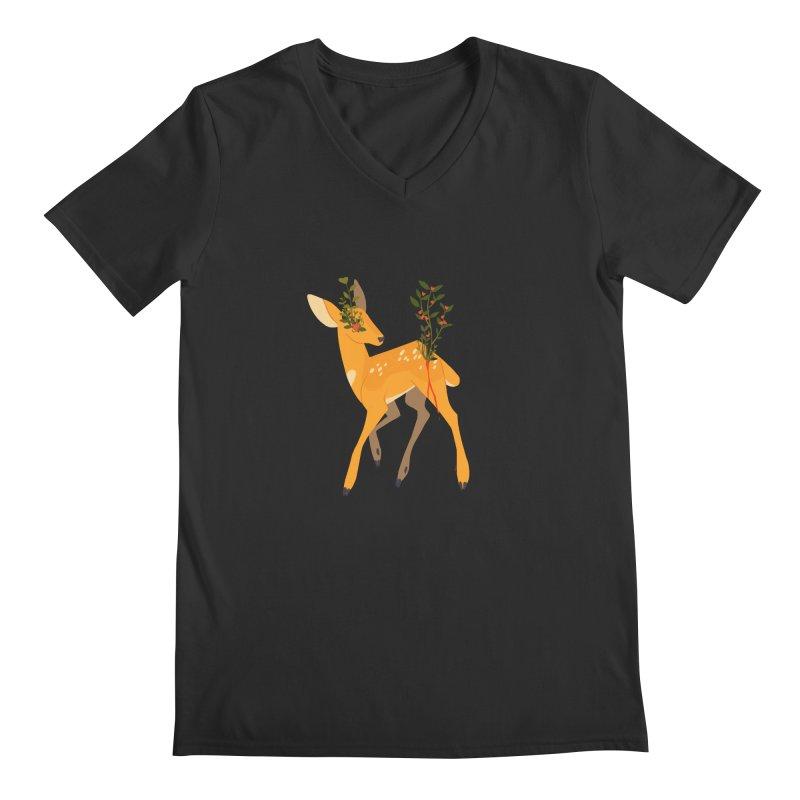 Golden Deer Men's V-Neck by StrangelyKatie's Store