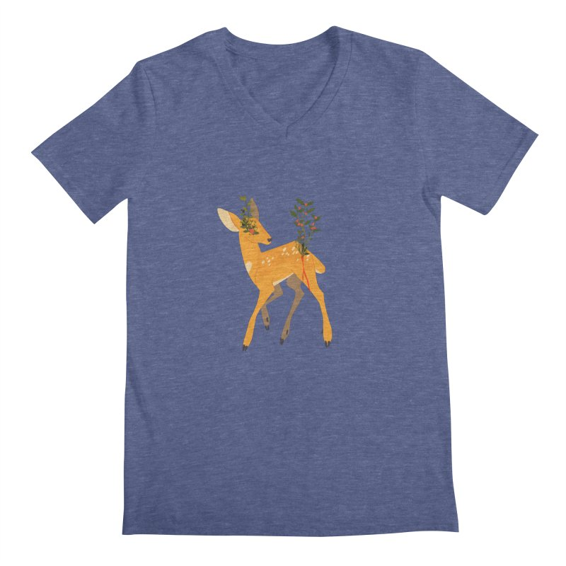 Golden Deer Men's Regular V-Neck by StrangelyKatie's Store