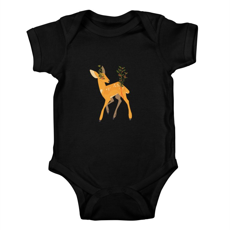 Golden Deer Kids Baby Bodysuit by StrangelyKatie's Store