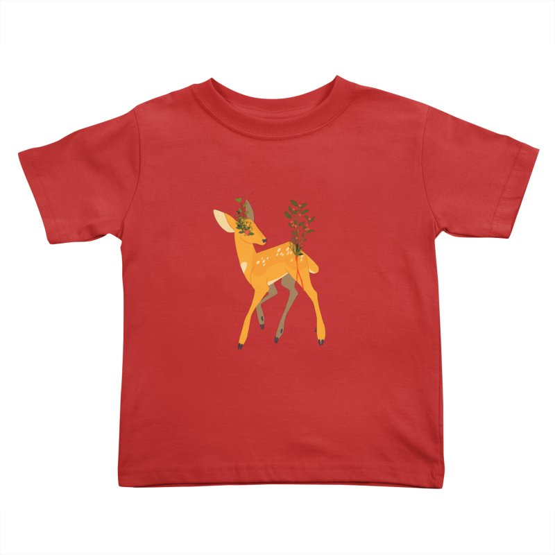 Golden Deer Kids Toddler T-Shirt by StrangelyKatie's Store