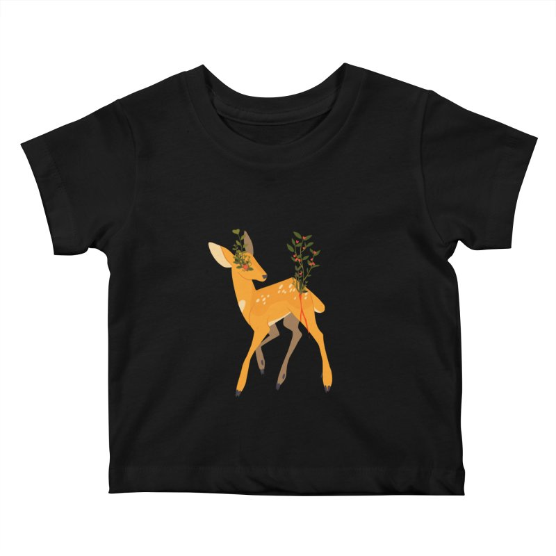 Golden Deer Kids Baby T-Shirt by StrangelyKatie's Store