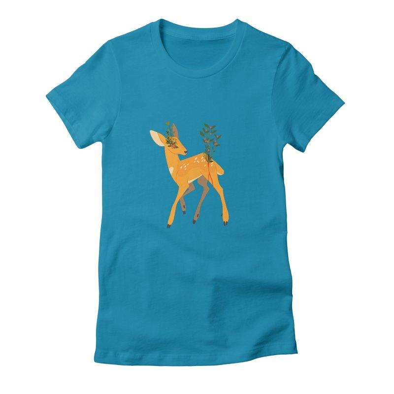 Golden Deer Women's T-Shirt by StrangelyKatie's Store