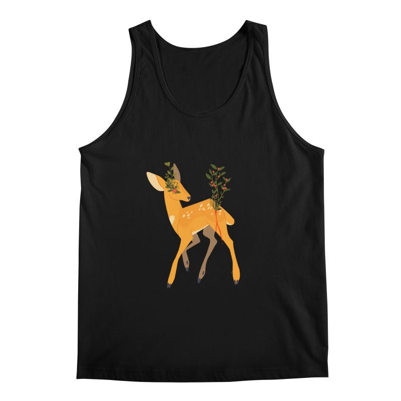 Golden Deer Men's Regular Tank by StrangelyKatie's Store