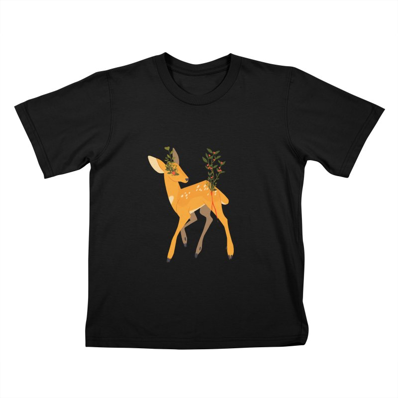 Golden Deer Kids T-Shirt by StrangelyKatie's Store