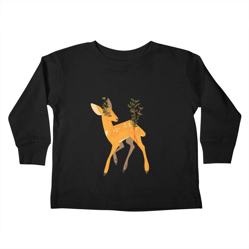 Golden Deer Kids Toddler Longsleeve T-Shirt by StrangelyKatie's Store